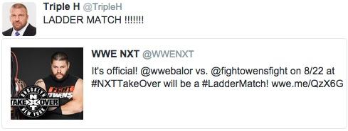 NXT王座戦 試合形式 ラダーマッチ