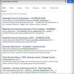 サブミッション・ソロリティ検索結果