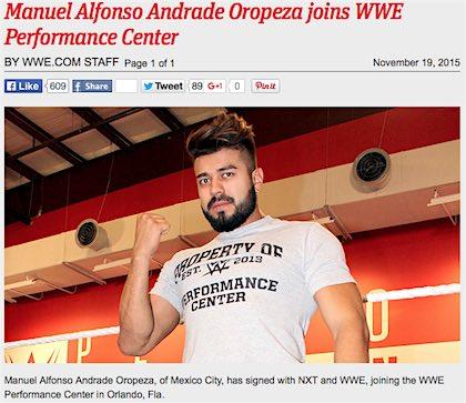 ラ・ソンブラ WWEと契約